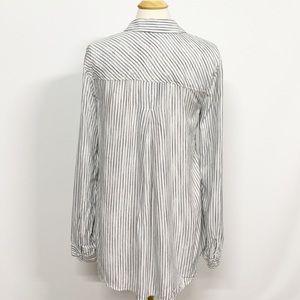 Bella Dahl Tops - Bella Dahl | White Striped Long Sleeve Button Down
